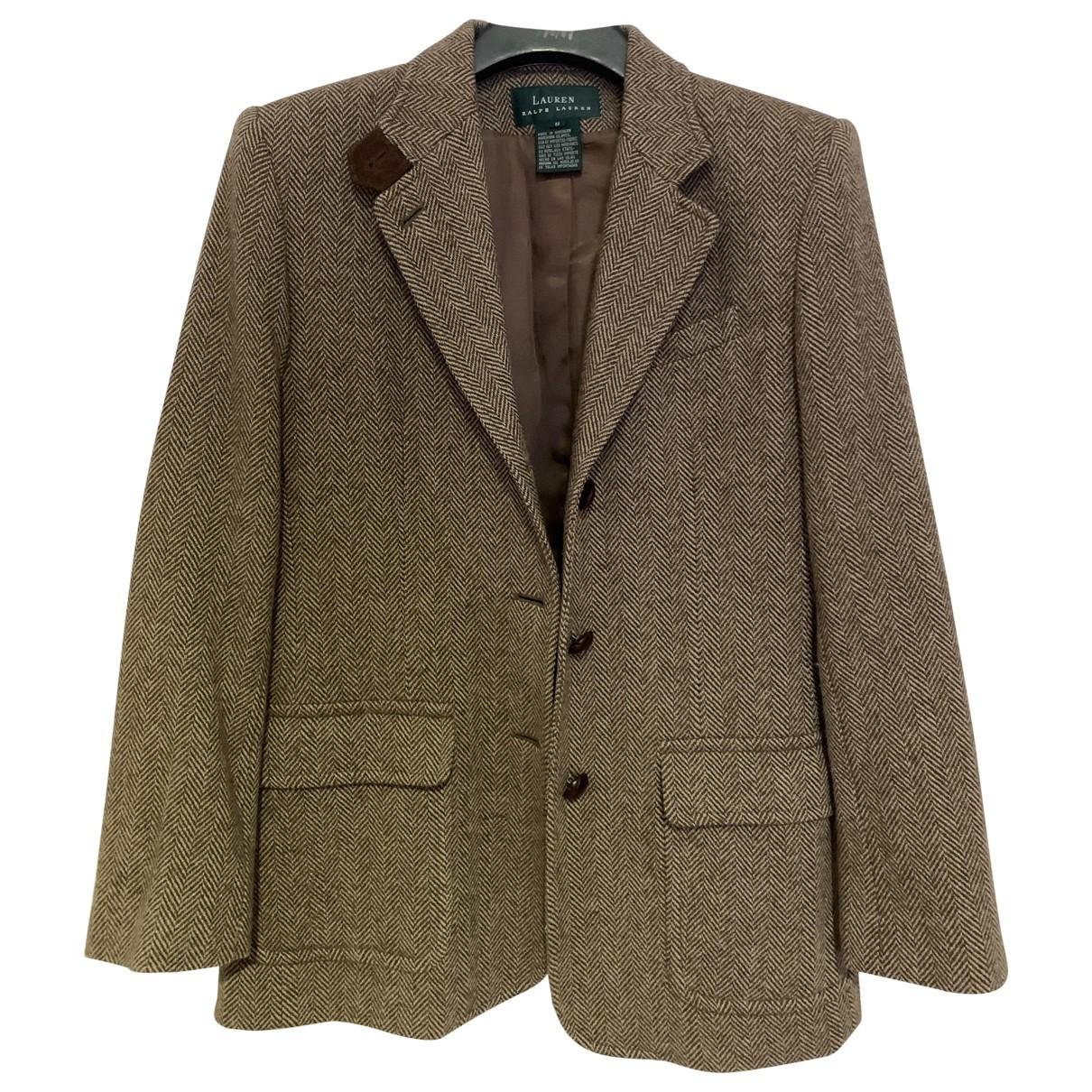 Lauren Ralph Lauren \N Brown Tweed jacket for Women 8 UK
