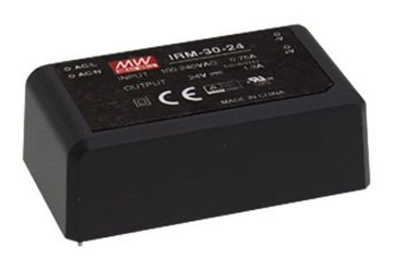 Mean Well , 31W Encapsulated Switch Mode Power Supply, 24V dc, Encapsulated