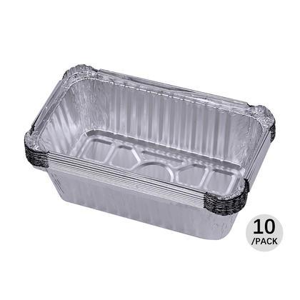 Récipients de casserole daluminium oblong, 7.4 * 4.3 * 2.4 pouces, 10Pcs - LIVINGbasics™