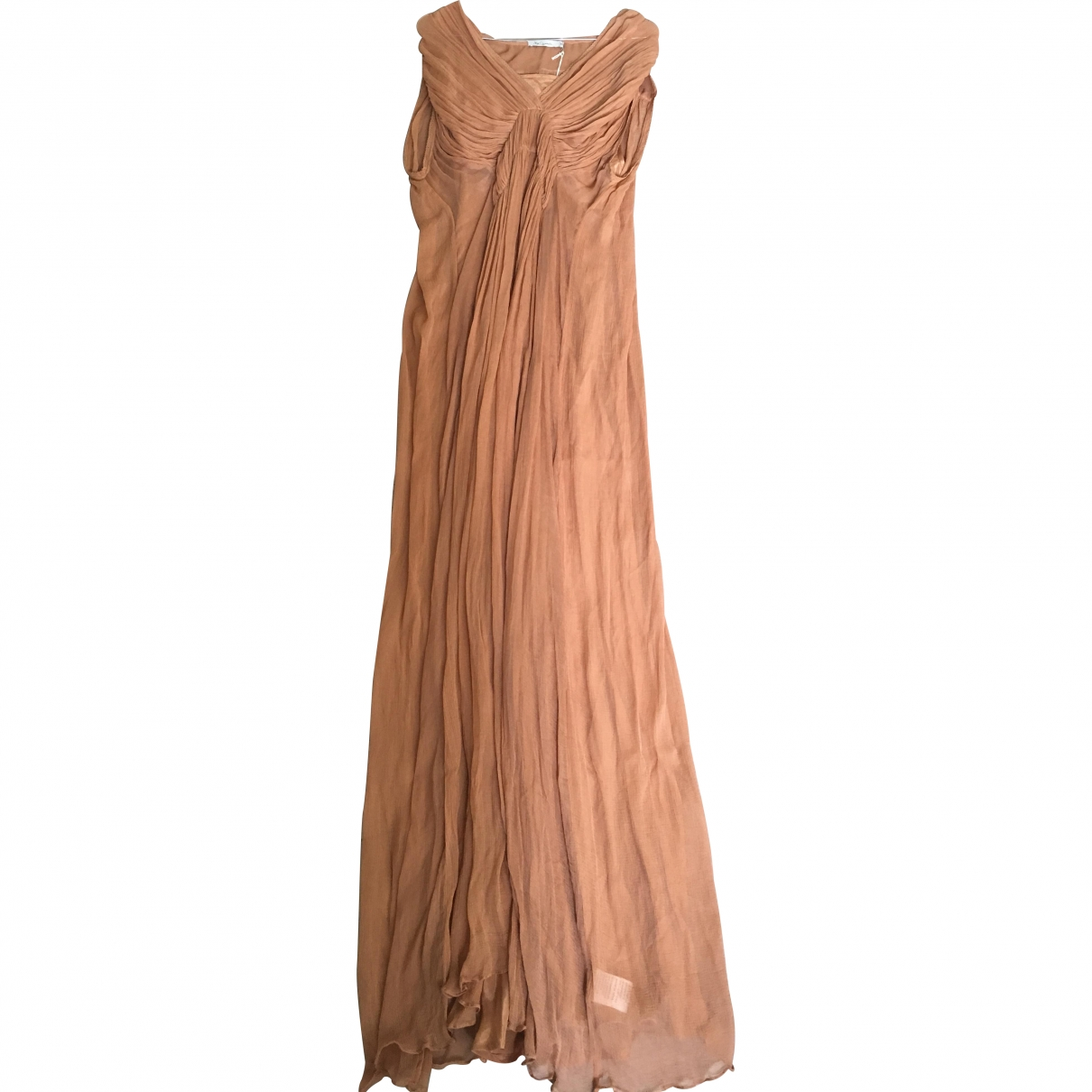 Mes Demoiselles ... \N Brown Silk dress for Women 40 IT