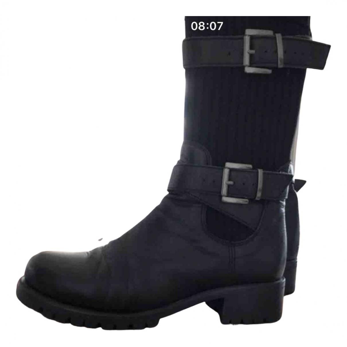 Unisa \N Stiefel in  Schwarz Leder