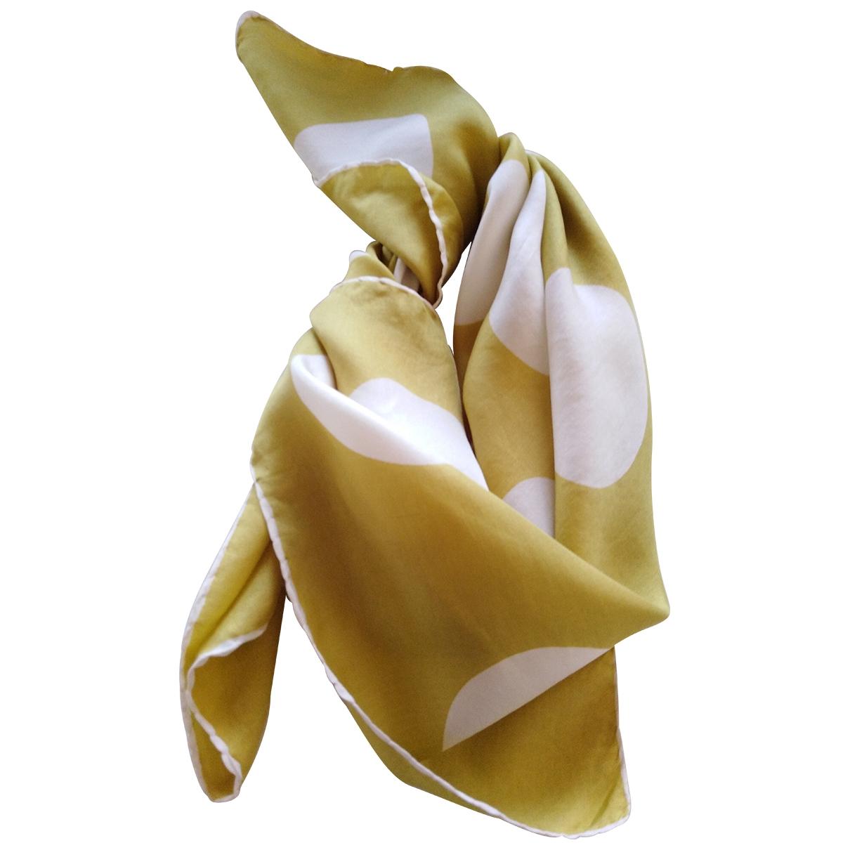 - Foulard Motifs Coquillages pour femme en soie - vert