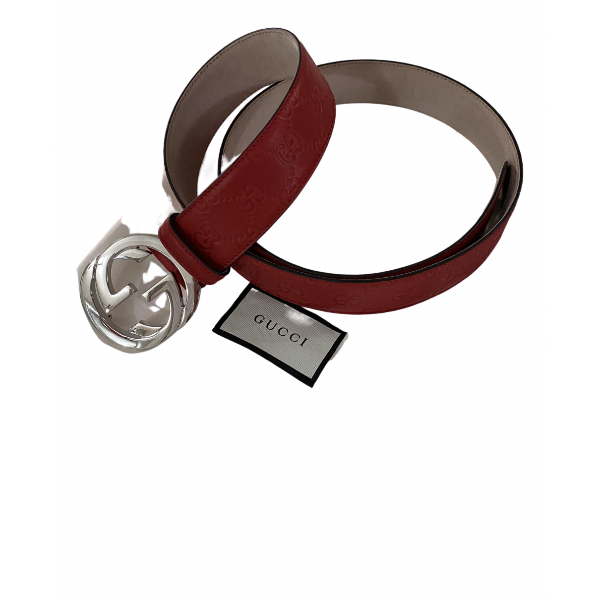 Cinturon Interlocking Buckle de Cuero Gucci