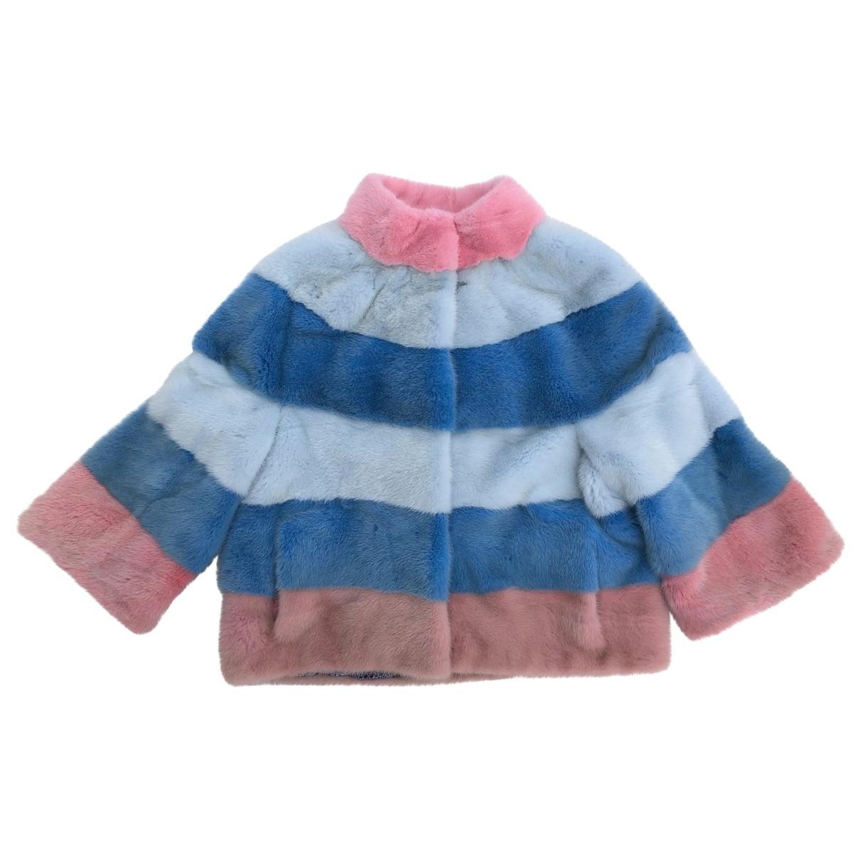 Saga Furs - Veste   pour femme en vison - multicolore