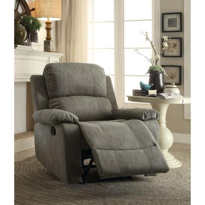 BM185604 Contemporary Microfiber Upholstered Metal Recliner with Pillow Top