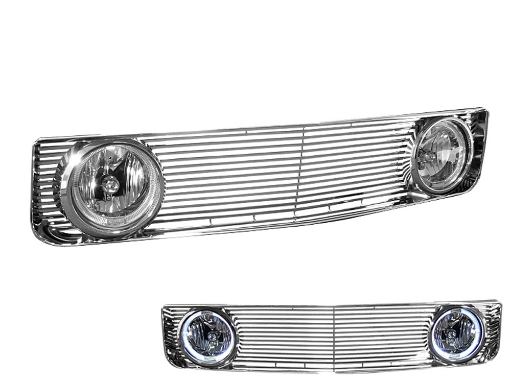 Armordillo 7148390 USA Chrome OE - GT Style Grille w/ Fog Light Ford Mustang Base Excl. GT 2005-2009