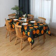 Tischtuch mit Orange Muster