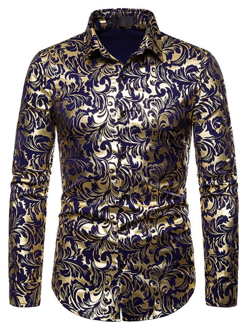 Ericdress Floral European Print Fall Slim Shirt