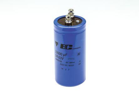 Vishay 33000μF Electrolytic Capacitor 63V dc, Screw Mount - MAL210118333E3