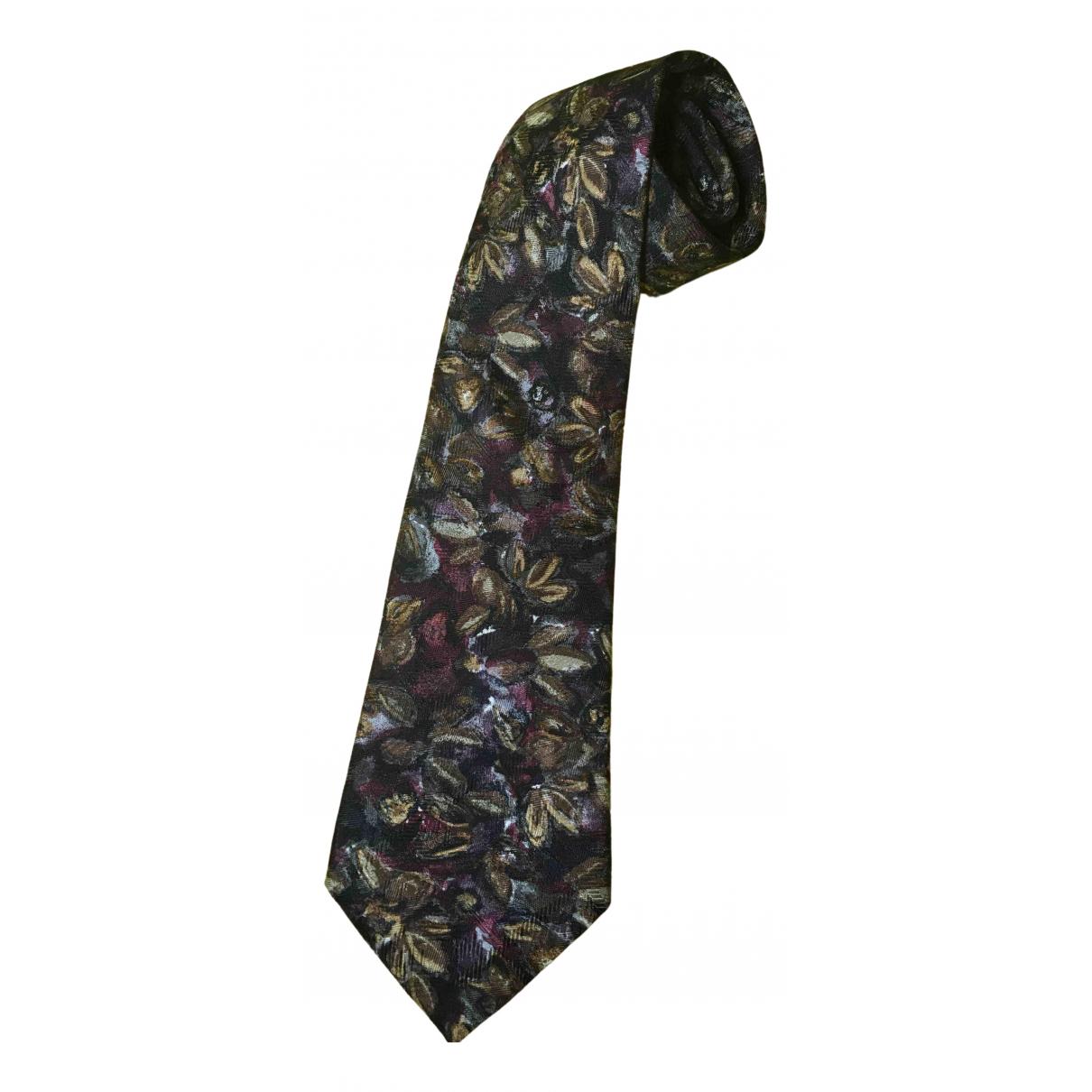 Cerruti \N Krawatten in  Braun Seide