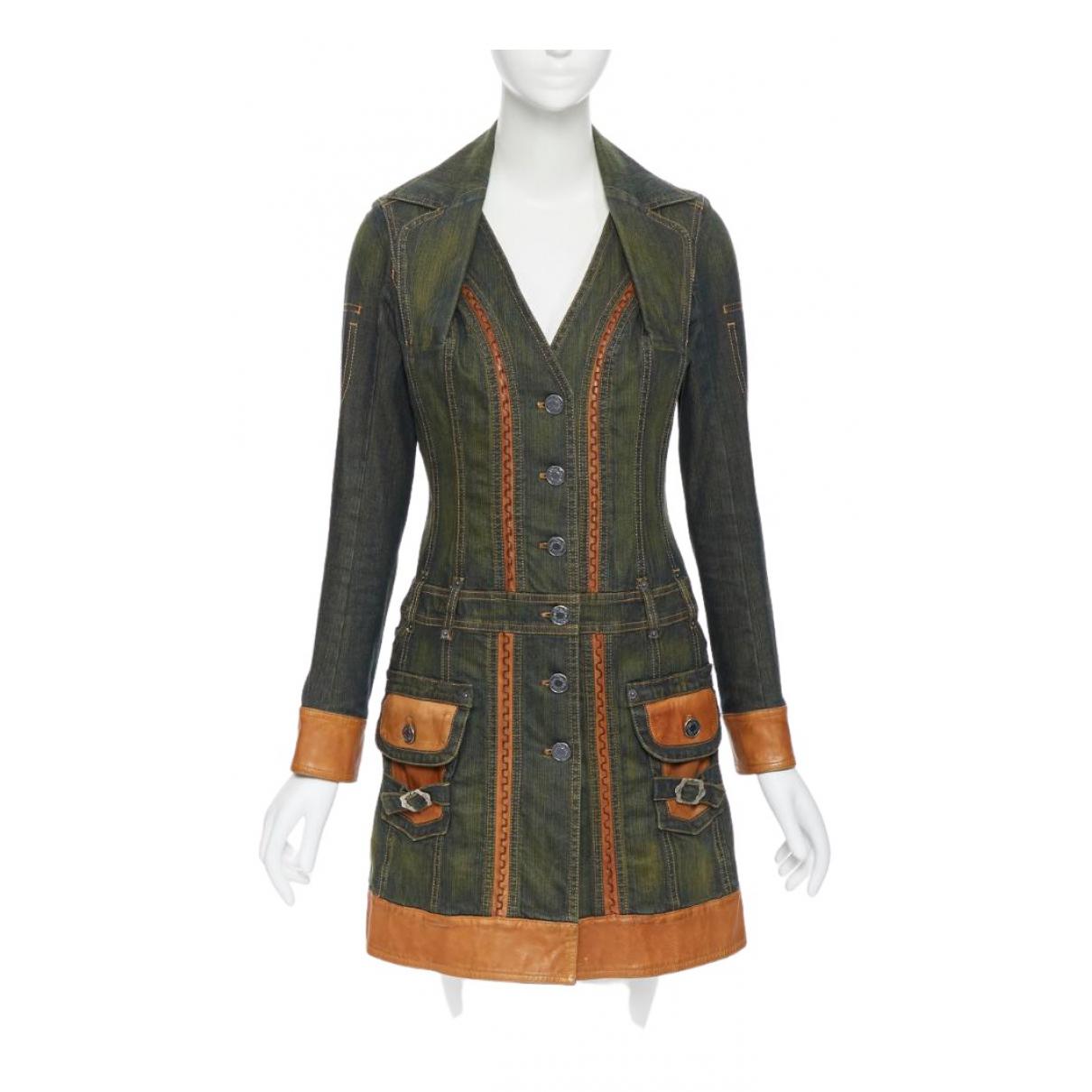 Dior - Robe   pour femme en denim - vert