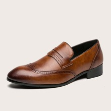 Maenner Perforierte Slip On Loafers