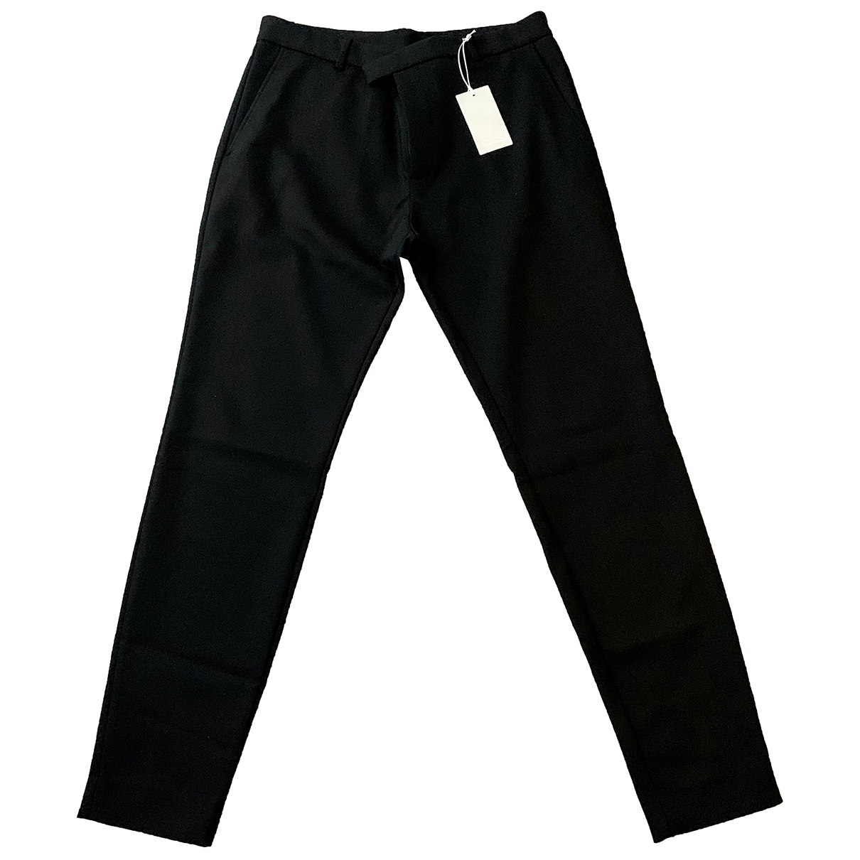 Cos N Black Cotton Trousers for Men 48 IT