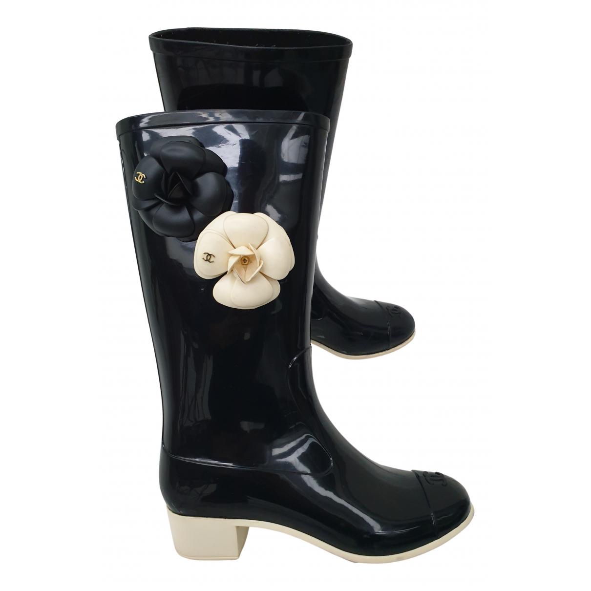 Chanel N Black Boots for Women 37 EU