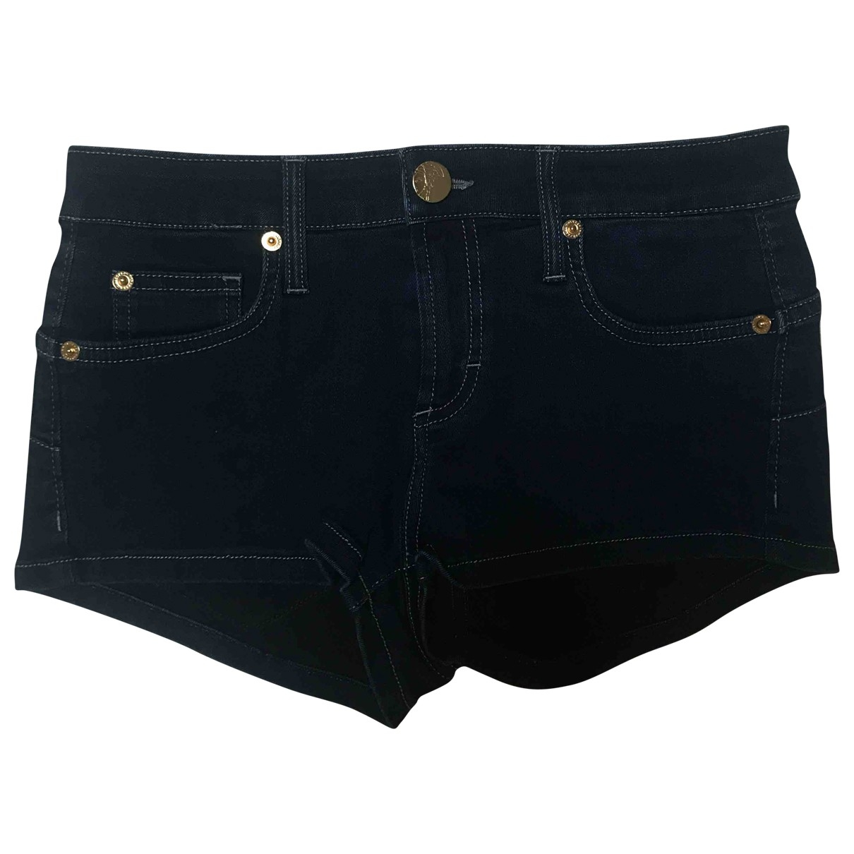 Versace \N Blue Cotton - elasthane Shorts for Women 36 FR