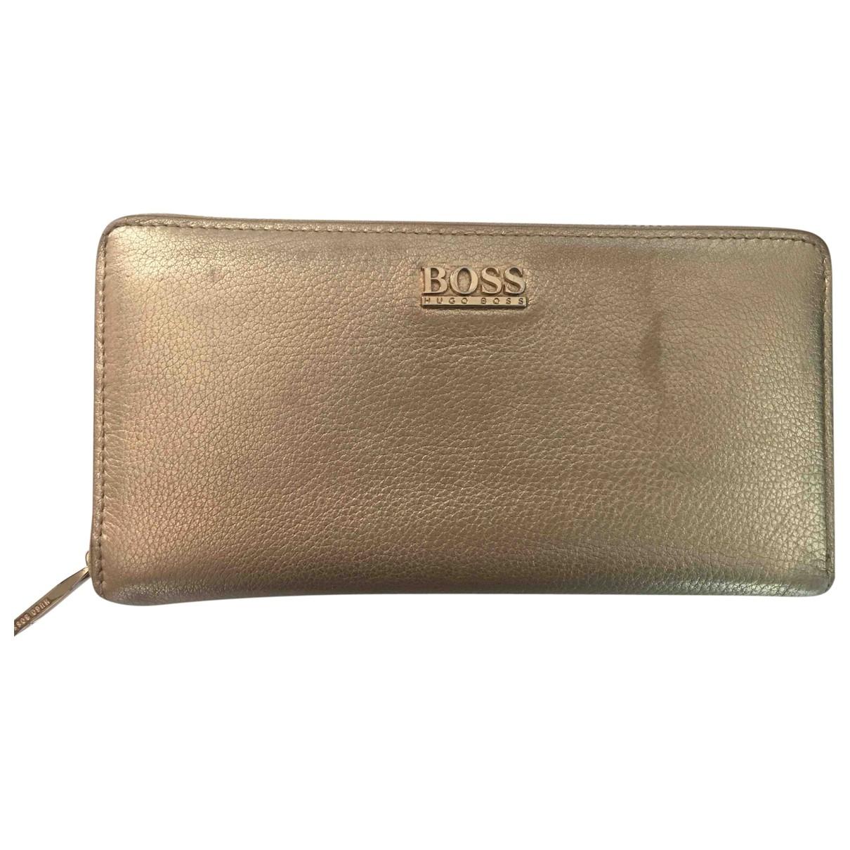 Boss \N Portemonnaie in  Gold Leder
