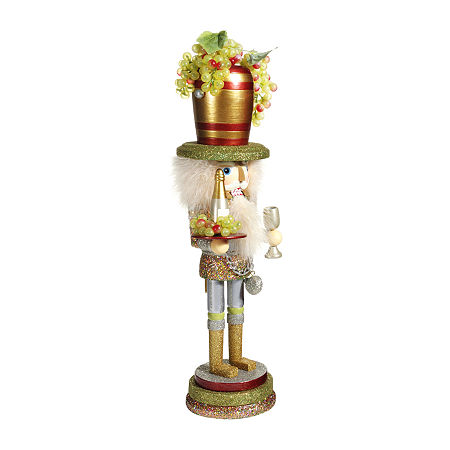 Kurt Adler 19.5-Inch Hollywood Wine Hat Christmas Nutcracker, One Size , Multiple Colors