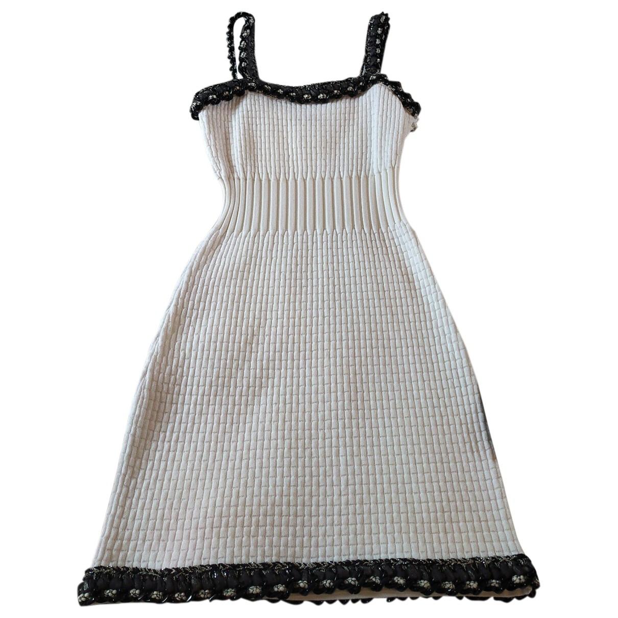 Chanel \N White Cotton - elasthane dress for Women 36 FR