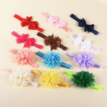 12pcs Baby Bow Decor Headband