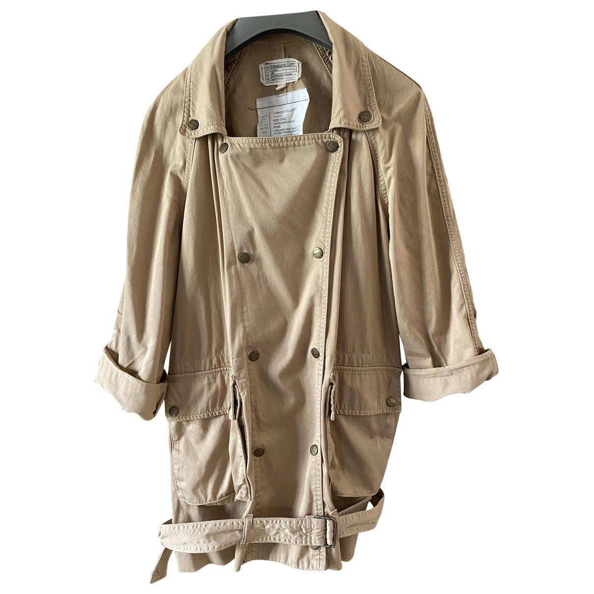 Current Elliott \N Beige Cotton jacket for Women 1 US