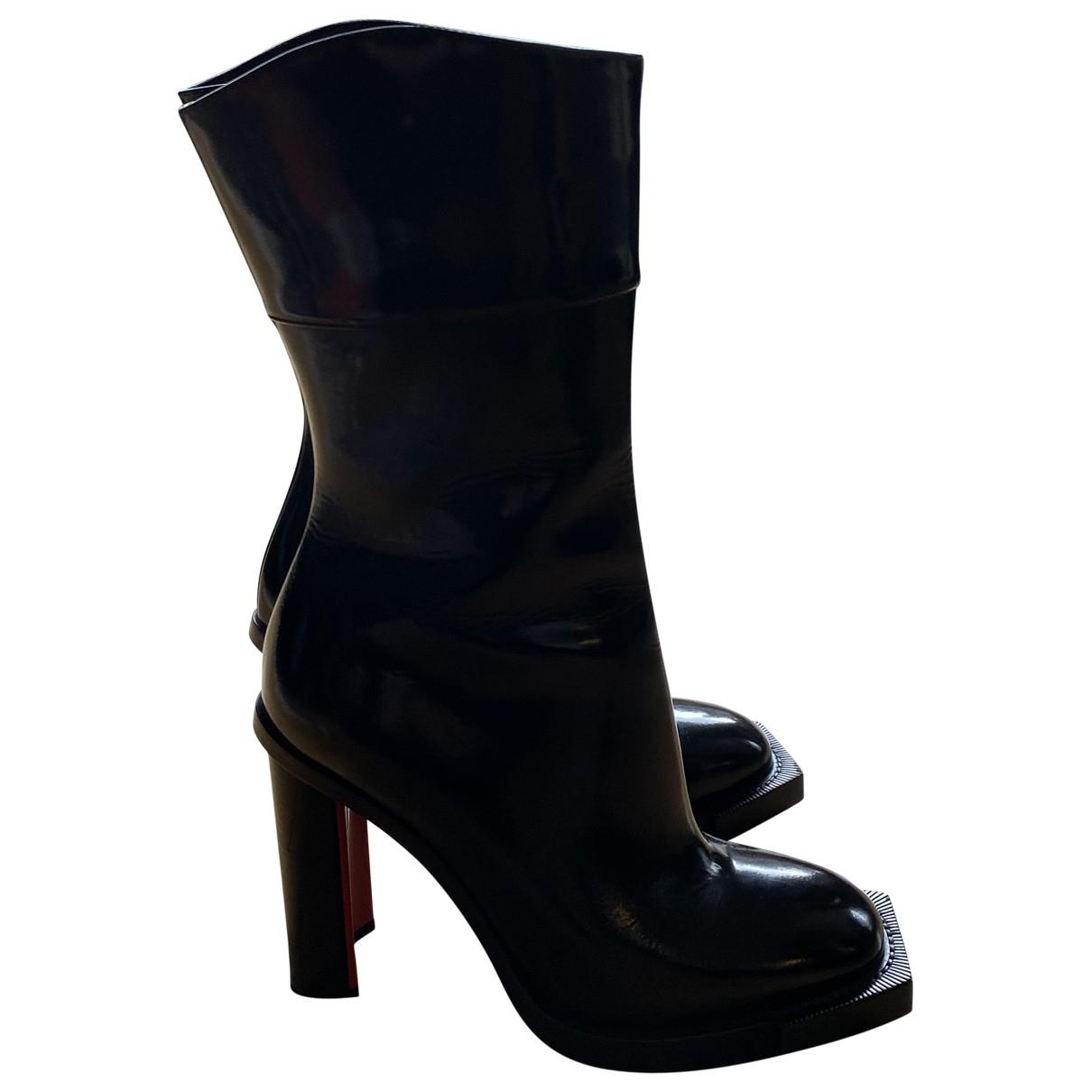 Alexander Mcqueen - Bottes   pour femme en cuir - noir