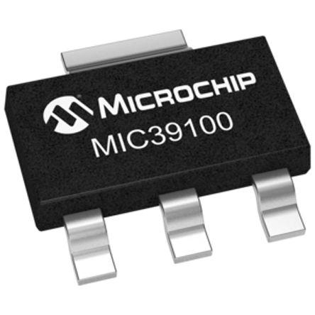Microchip MIC39100-3.3WS, LDO Regulator, 1A, 3.3 V, ±1% 3+Tab-Pin, SOT-223 (5)
