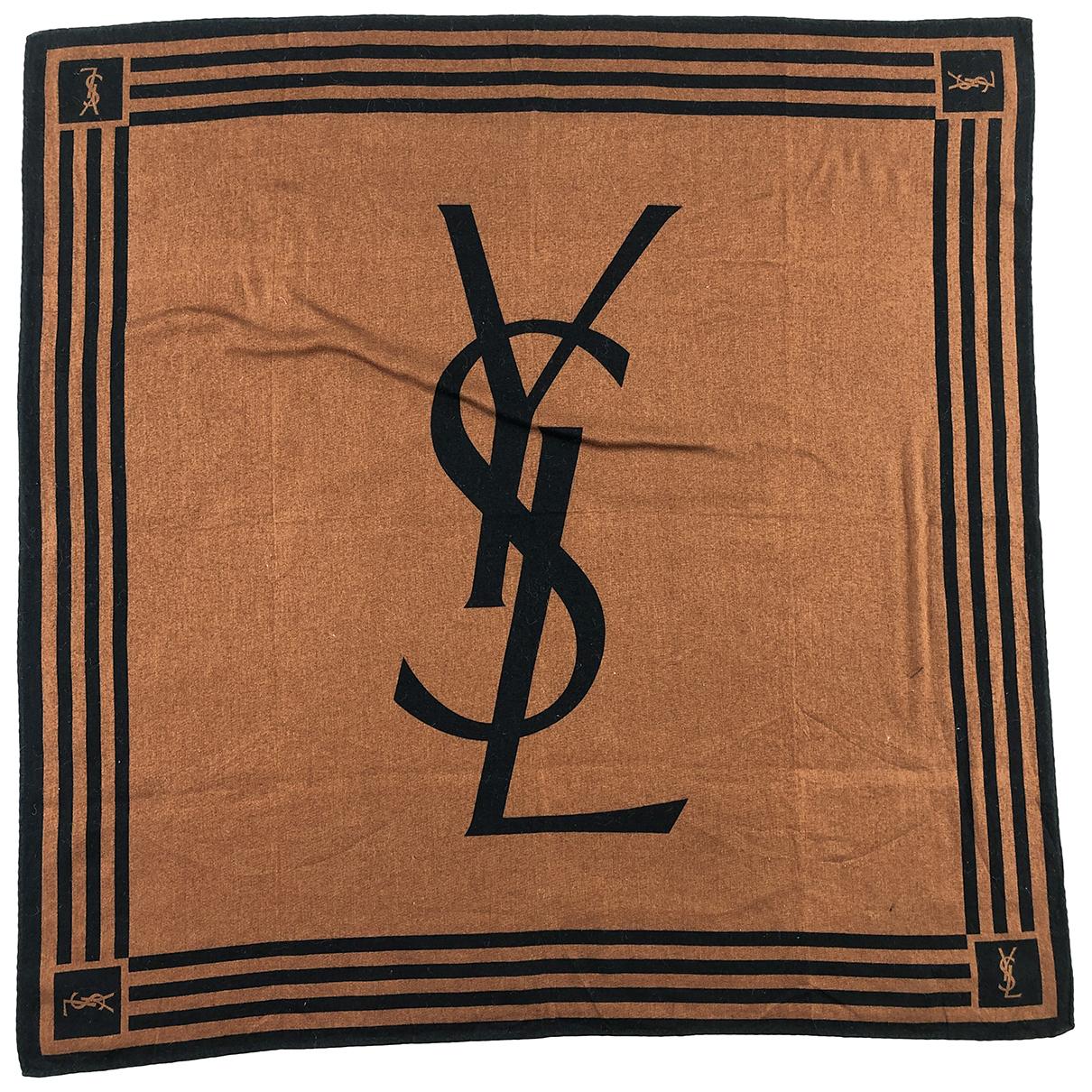 Yves Saint Laurent N Brown Cotton Silk handkerchief for Women N