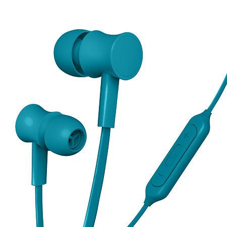 Merkury Innovations Rubberized Wireless Earbuds, One Size , Silver