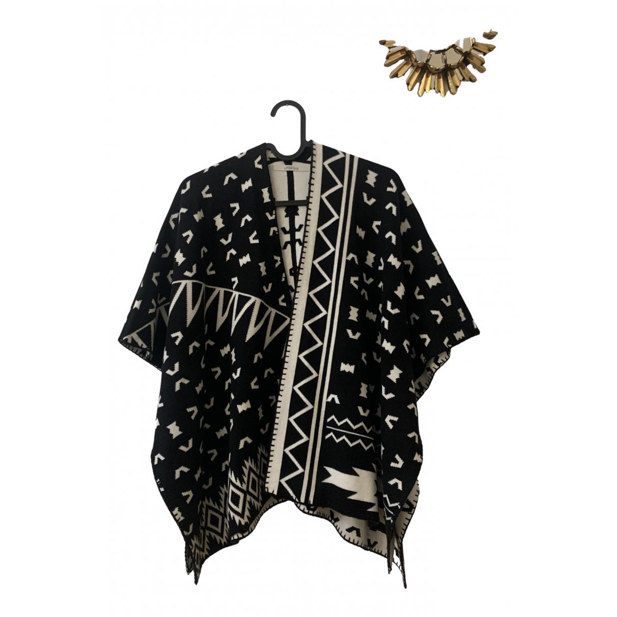 Uterque - Veste   pour femme en coton - noir