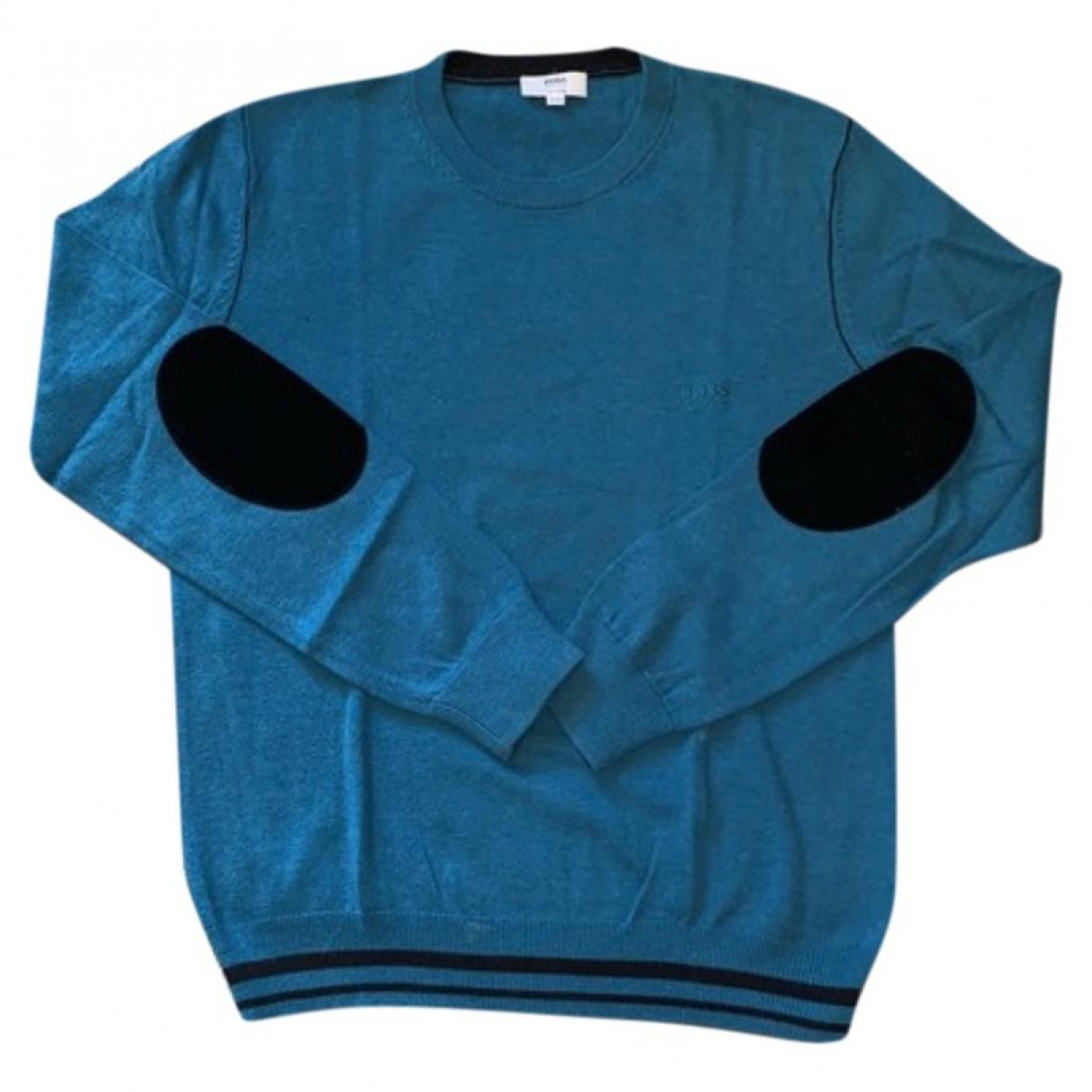 Boss \N Pullover, StrickJacke in  Blau Baumwolle