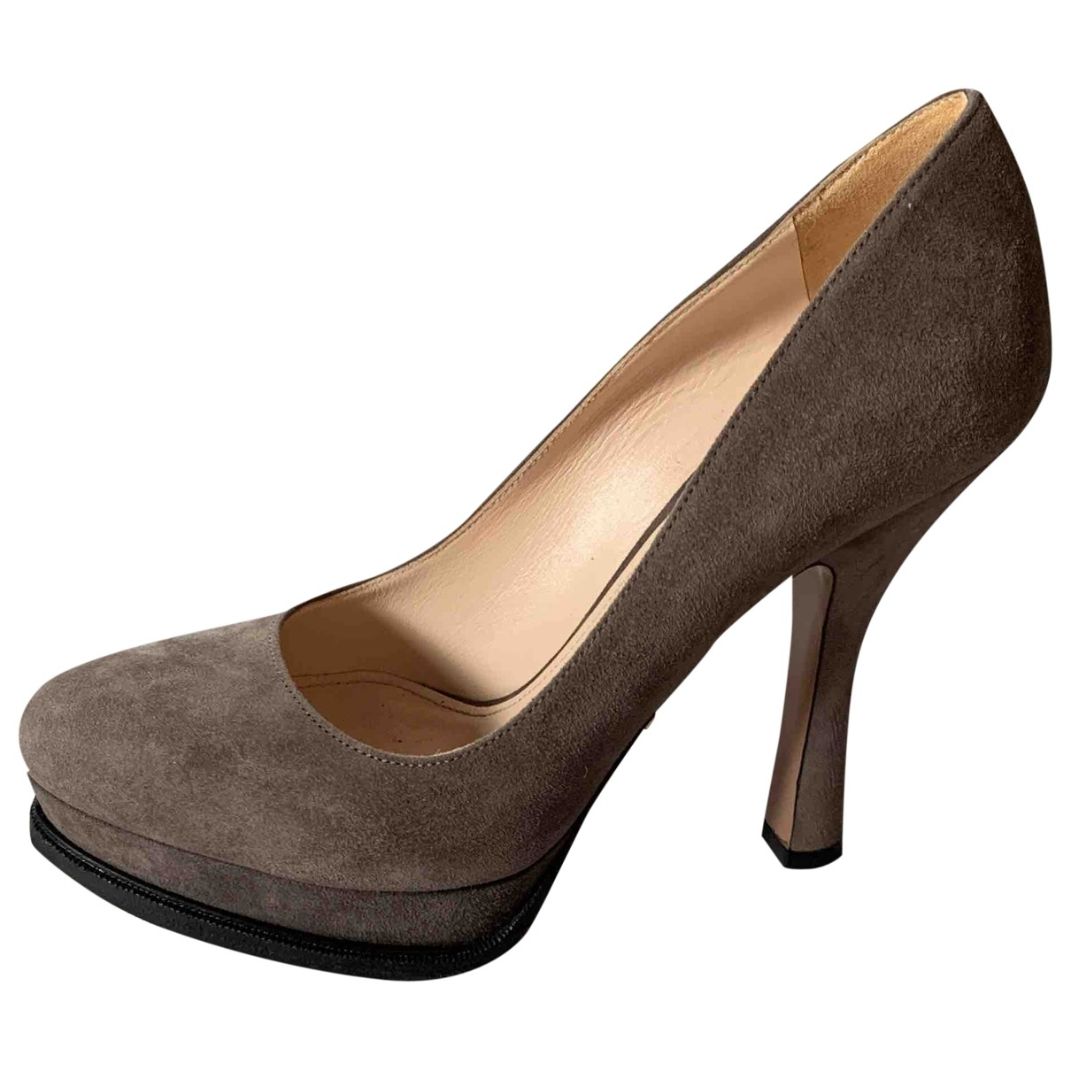 Prada \N Beige Suede Heels for Women 37.5 EU