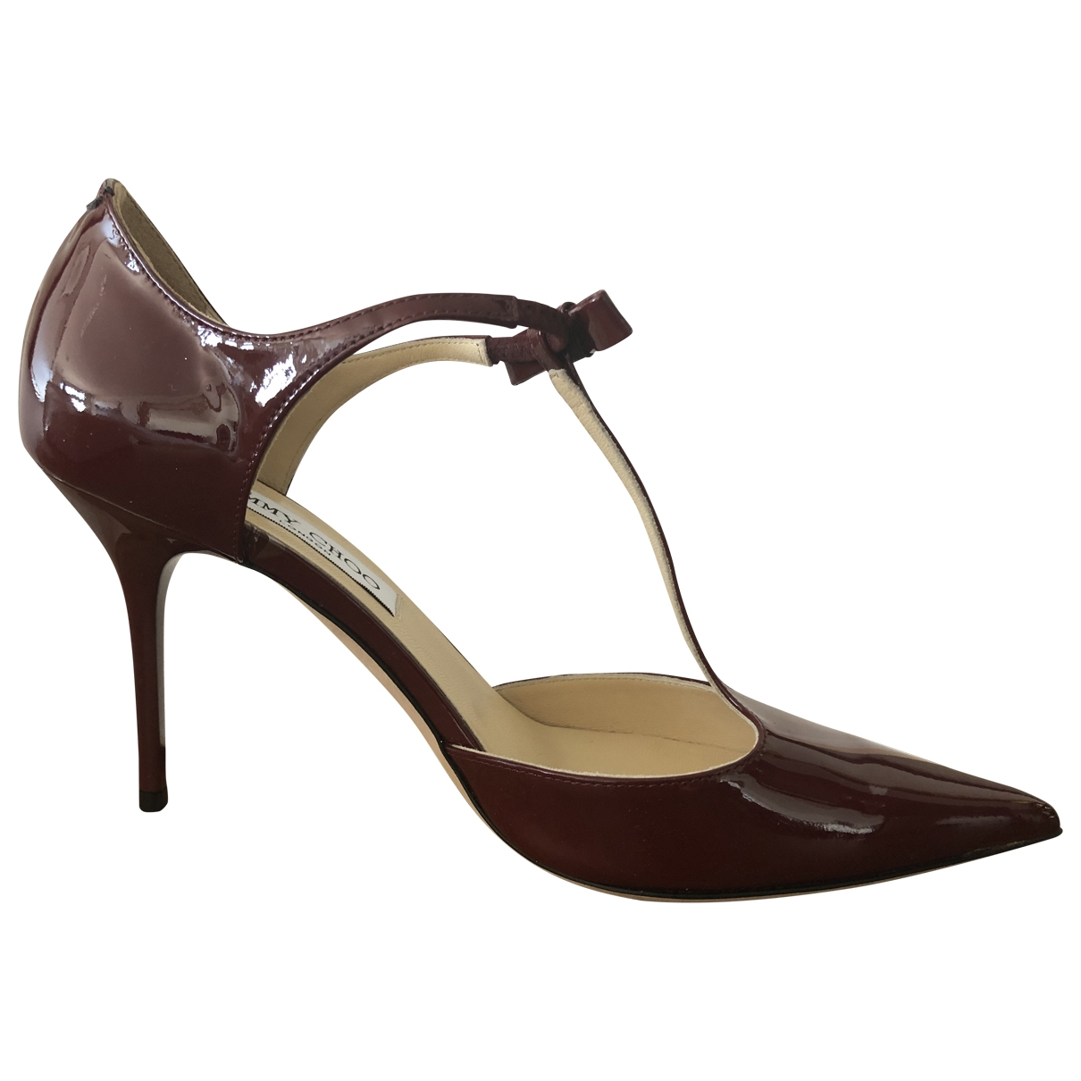 Jimmy Choo \N Burgundy Patent leather Heels for Women 37.5 EU