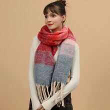 Color Block Pattern Scarf