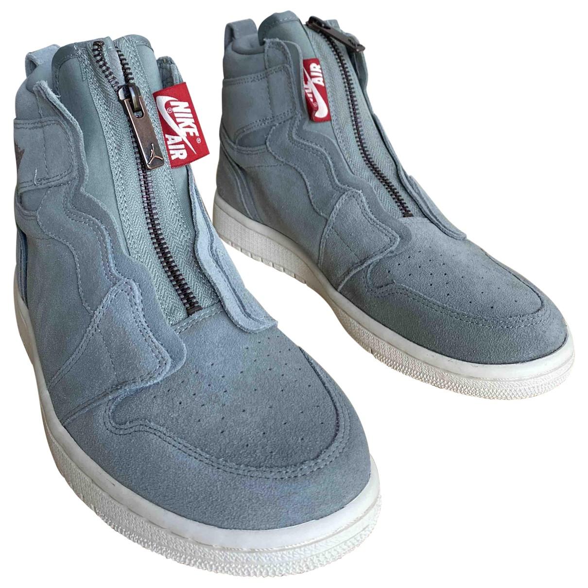 Jordan - Baskets Air Jordan 1  pour femme en suede - gris