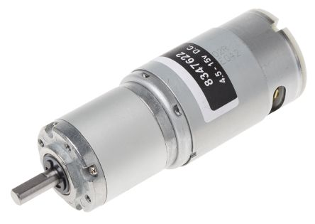 RS PRO , 12 V dc, 98 Ncm, Brushed DC Geared Motor, Output Speed 71 rpm