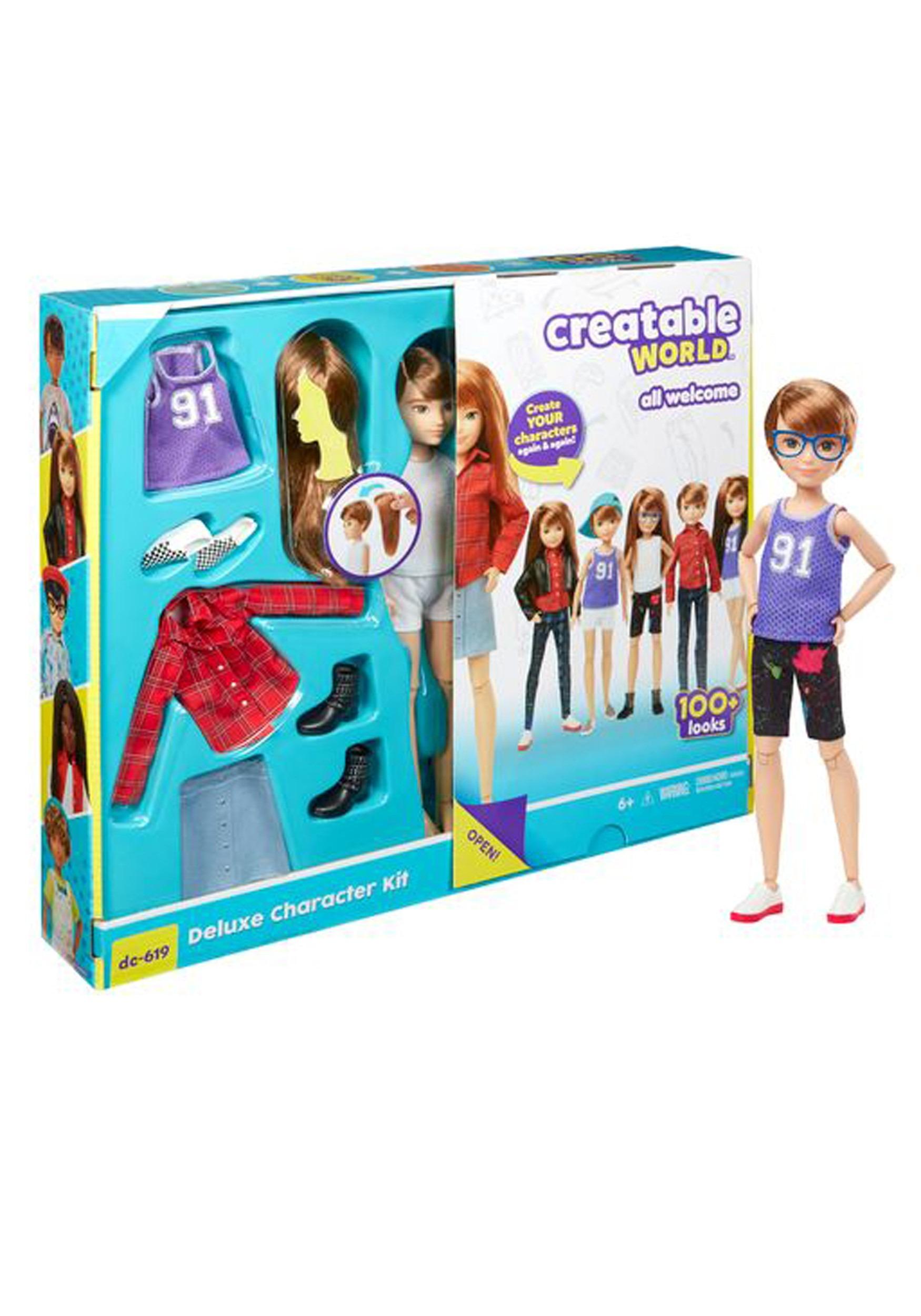 Creatable World - Deluxe Customizable Doll Character Kit