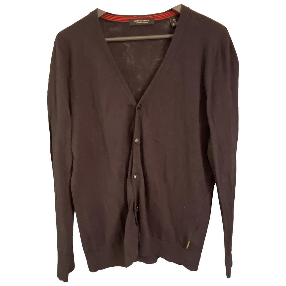 Scotch & Soda \N Pullover.Westen.Sweatshirts  in  Marine Wolle