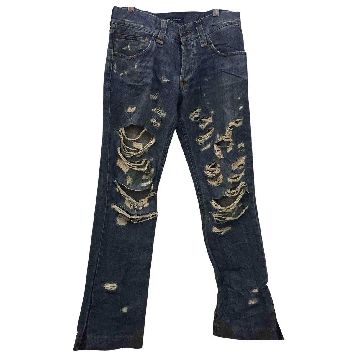 Dolce & Gabbana \N Blue Cotton Jeans for Men 31 US