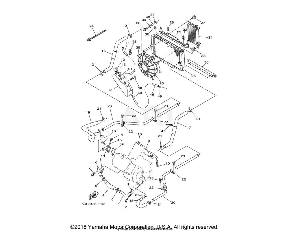 Yamaha OEM 5UG-12413-00-00 COVER, THERMOSTAT