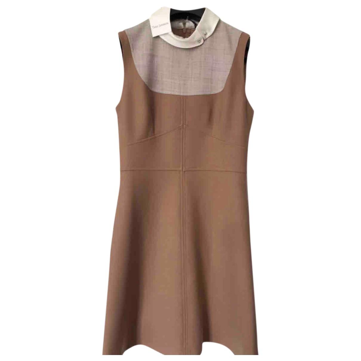 Tara Jarmon - Robe   pour femme en laine - camel