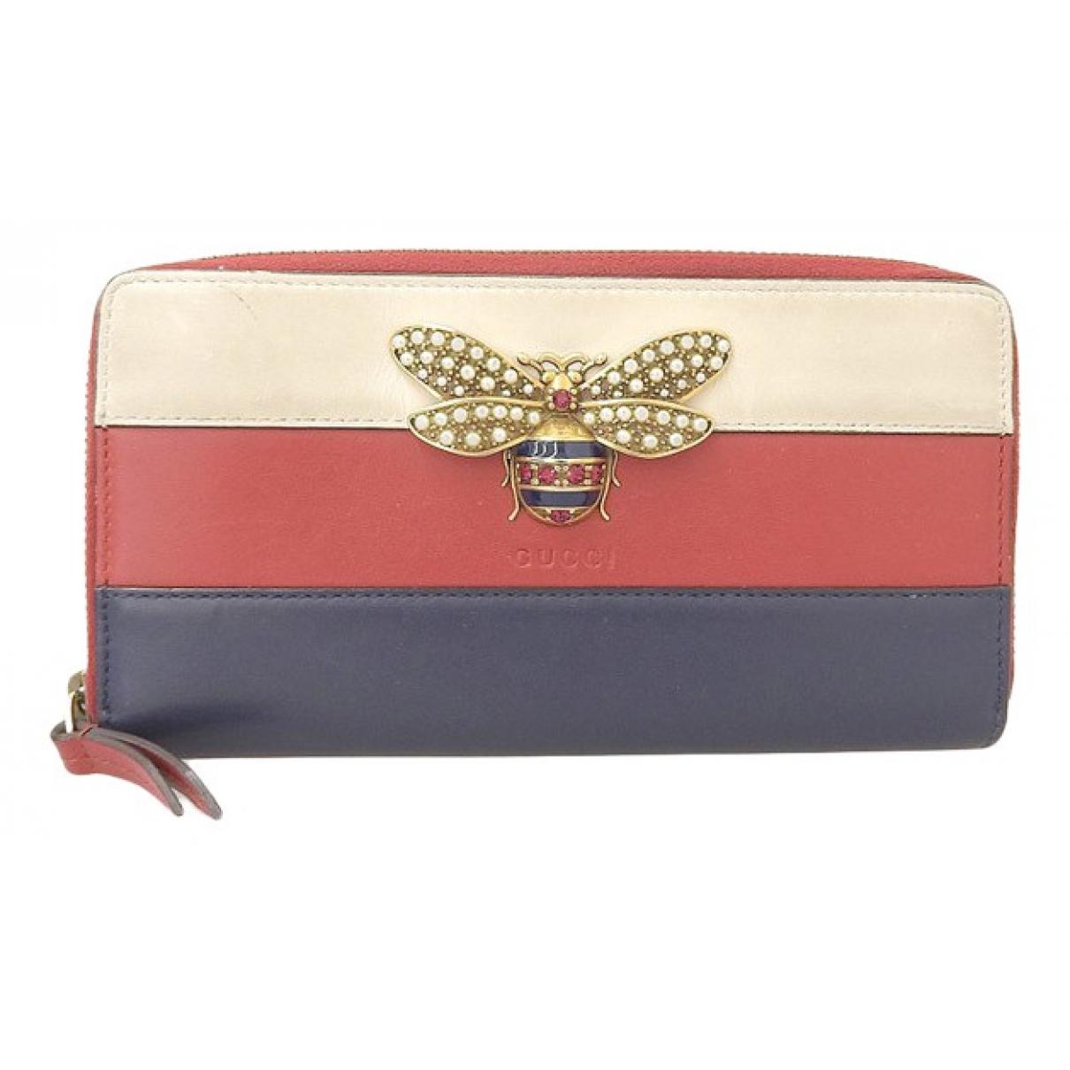 Gucci \N Portemonnaie in  Marine Leder