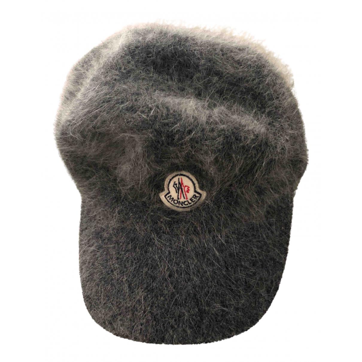 Moncler - Chapeau   pour femme en laine - gris