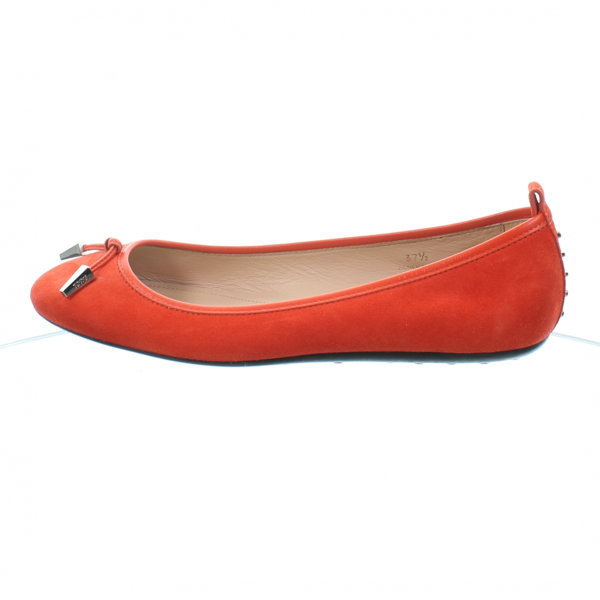 Tod's \N Red Suede Ballet flats for Women 37.5 EU