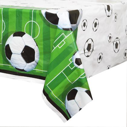 3D Soccer Rectangular Plastic Table Cover, 54