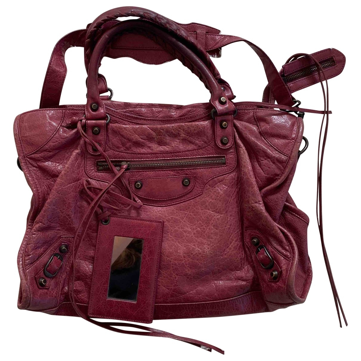 Balenciaga City Purple Leather handbag for Women \N