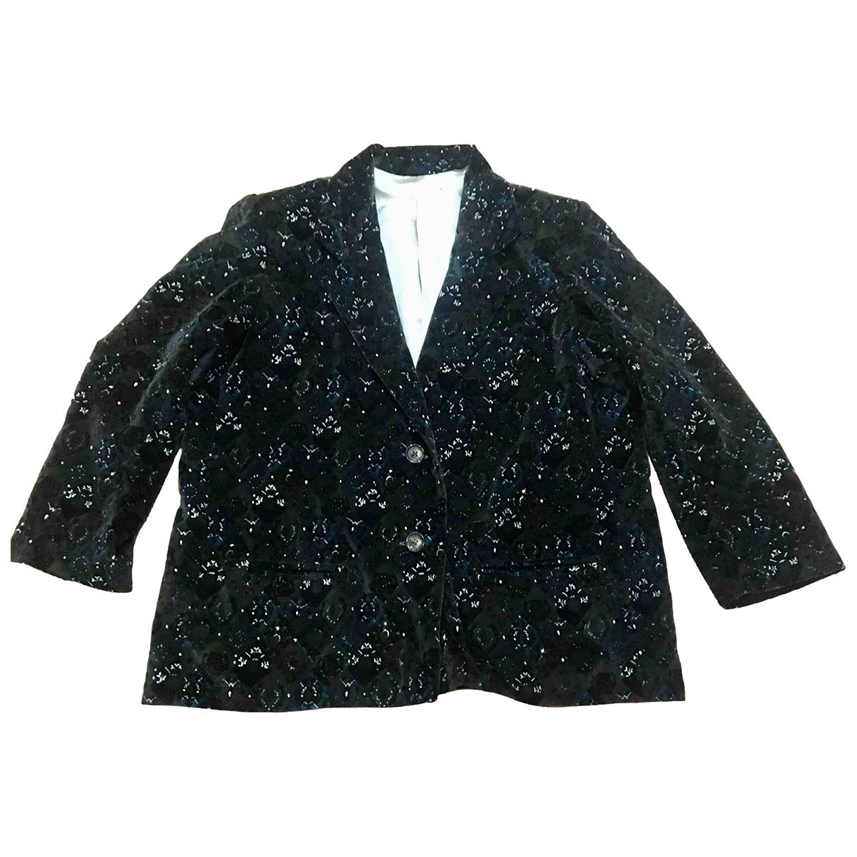 Non Signé / Unsigned N Multicolour Velvet jacket for Women M International