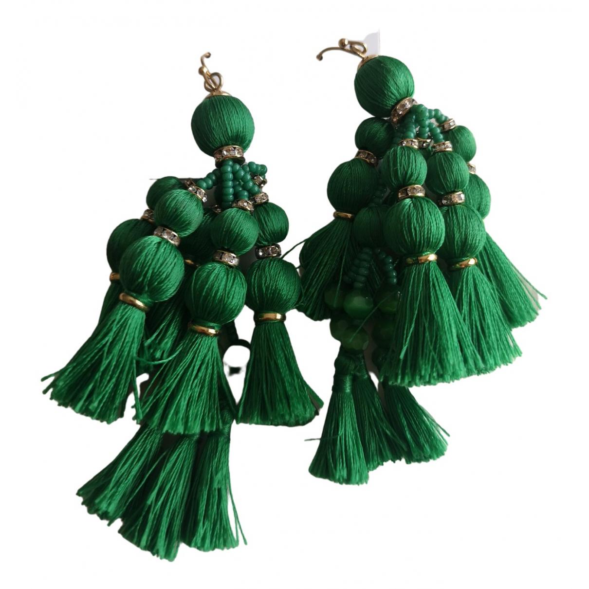 Kate Spade - Boucles doreilles   pour femme en toile - vert