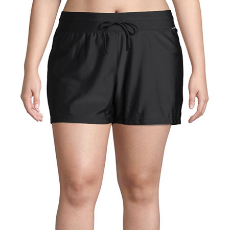 Zeroxposur Swim Shorts Swimsuit Bottom Plus, 1x , Black