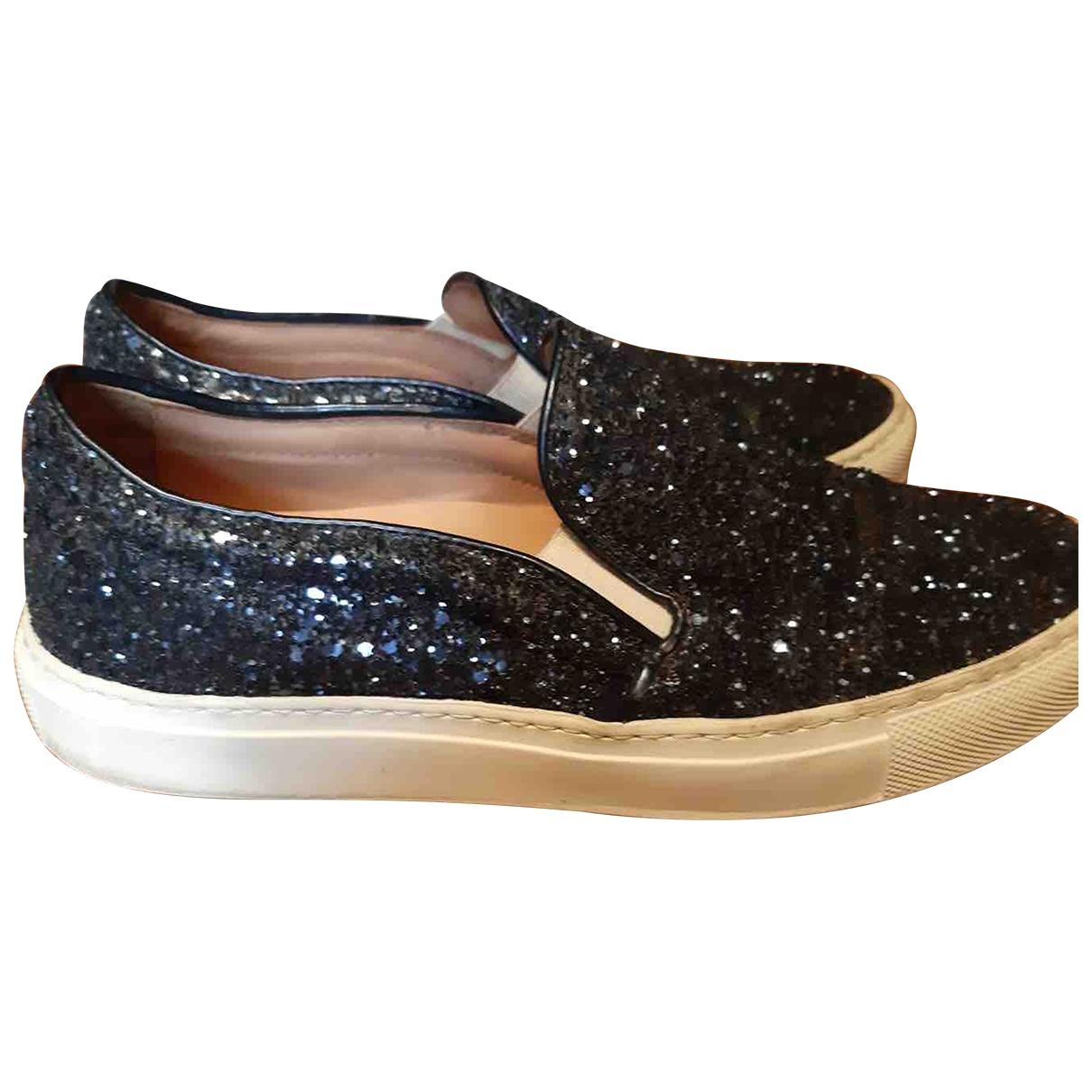 Non Signe / Unsigned \N Sneakers in  Blau Mit Pailletten