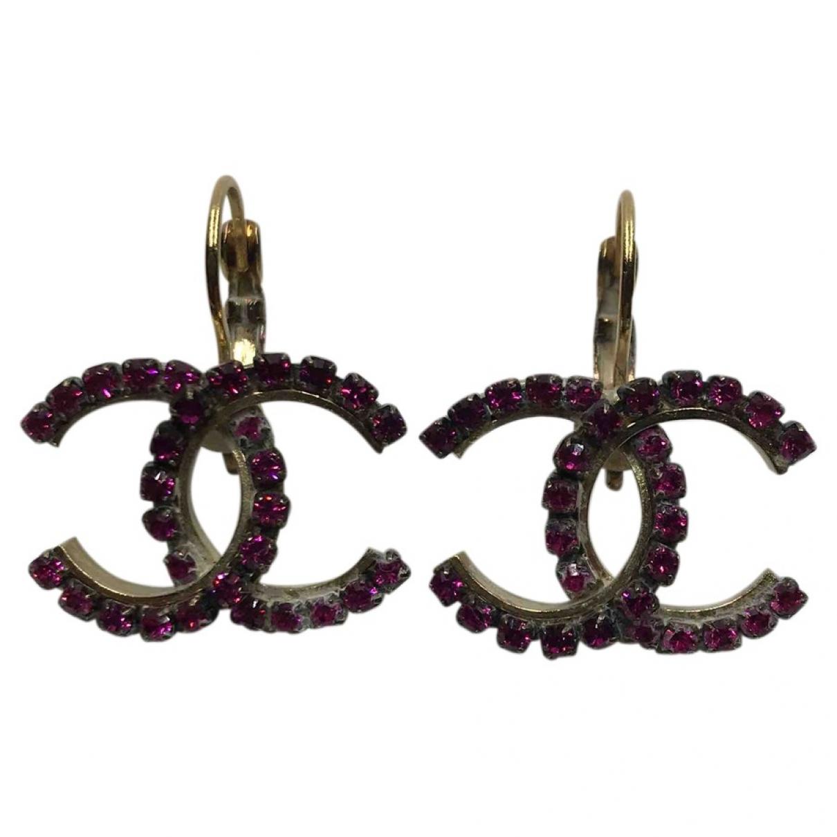 Chanel CC Purple Metal Earrings for Women \N